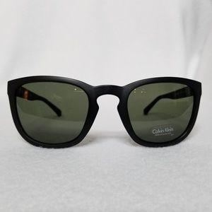Calvin Klein Matte Cat Eye Black Sunglasses